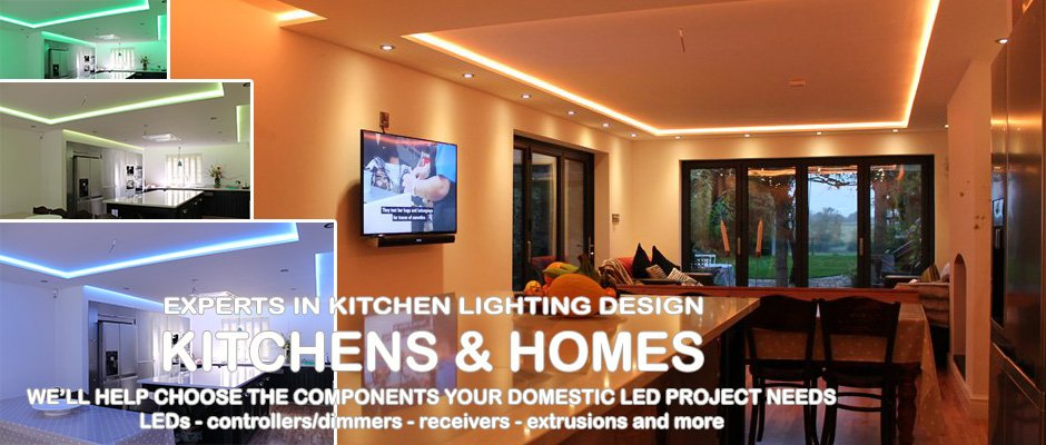 Expert LED lighting design for kitchens and domestic projects