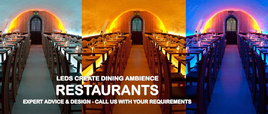 Create dining ambience with clever LED lighting