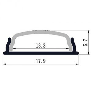Bendable LED profile - dimensions