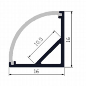 Corner LED profile - dimensions