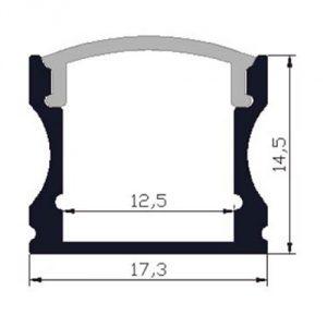 Deep surface LED profile - dimensions