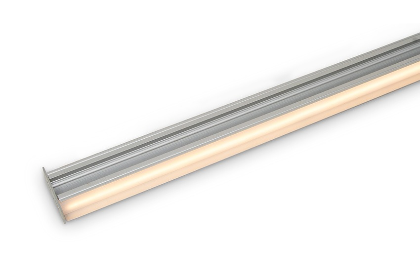 Aluminium LED profile housing twin LED strips for up-down wall light - lit