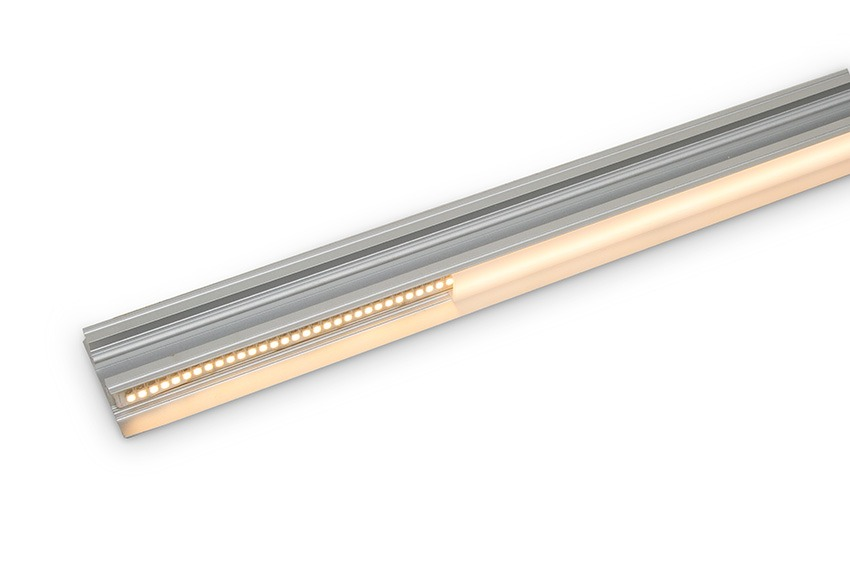Aluminium LED profile housing twin LED strips for up-down wall light - open