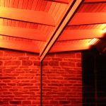Exterior 15-watt amber LED downlighting