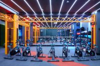 Fitclub - SPI digital LEDs running a ceiling chase effect