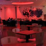 Venue bar with 15W red LEDs