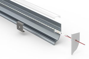 Coving Uplight LED extrusion - split view