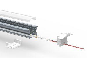 Deep recess LED extrusion - split view