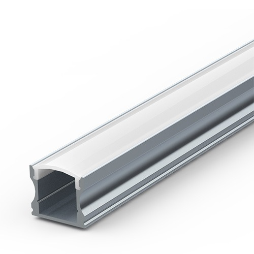 Deep surface aluminium extrusion for LED tapes