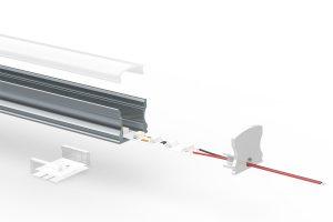 Deep-surface LED extrusion - split view