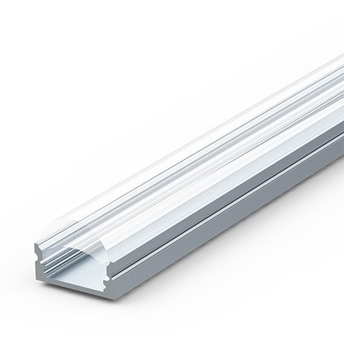 Optic lens extrusion for LED strip lights