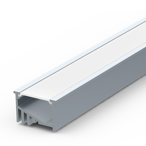 Recessed Internal-Angle Extrusion for LED Strip Lights