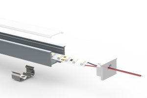 Recessed internal-angle LED extrusion - split view