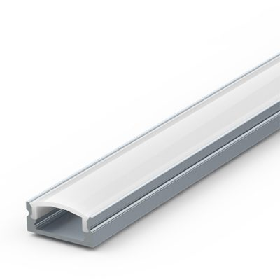 Aluminium thin surface-mounted extrusion for LED strip lights