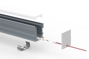 Walkover LED extrusion - split view