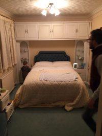 Before image of the bedroom, pre-refurbishment