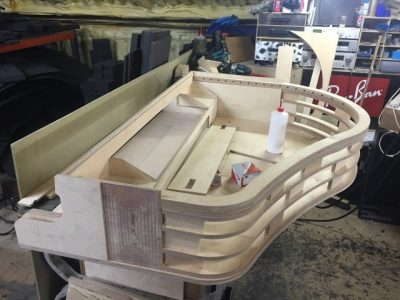 Constructing the piano - first steps before the LEDs are installed
