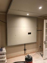 Cinema room - TV media-panel construction