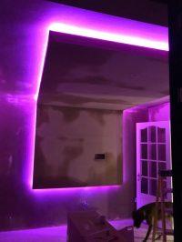 Cinema Room - LED installation/testing 1
