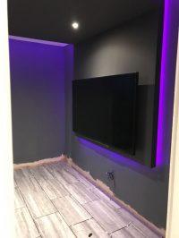 Cinema Room - LED installation/testing 2