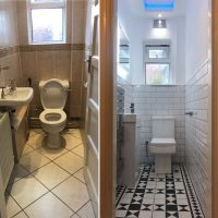 Cloakroom - before and after