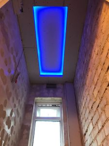 Cloakroom ceiling coffer - plastering is next