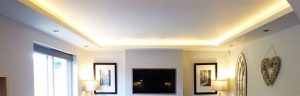 drop ceilings & coffers - LED house refurb using RGBW LEDs