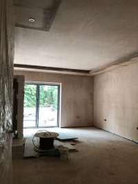Front room lowered ceiling in place