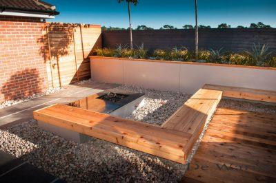 Contemporary modular garden - Suffolk
