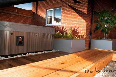 Millboard decking in daylight - photo: De Warne