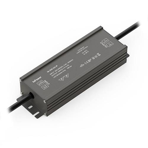 Water-resistant 200-watt transformer for LEDs (IP67-rated)