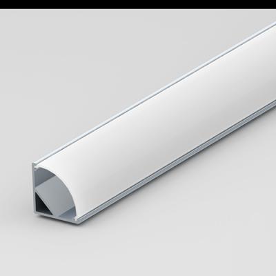 Aluminium corner extrusion for LED strip lights