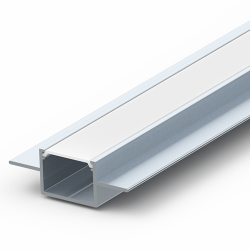 Flush Surface Extrusion for LED Tape - plaster right up to the edge