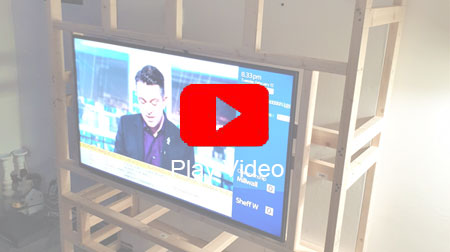 LED TV wall showcase video