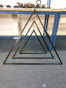 Triangle frame construction