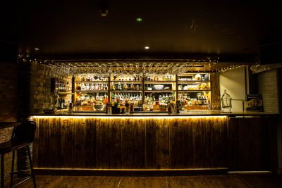 45 West - the bar with warm-white LED strips (10W/metre)