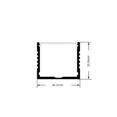 Large LED profile - dimensions