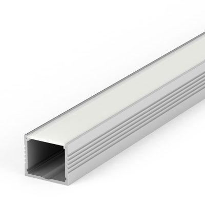 Large aluminium extrusion for LED tapes