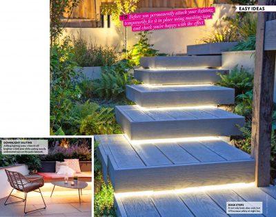 Downlight seating and Step edges - Modern Gardens magazine
