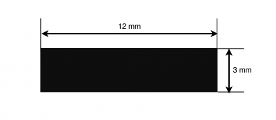 Flat Based Extrusion for LED strip lights - dimensions