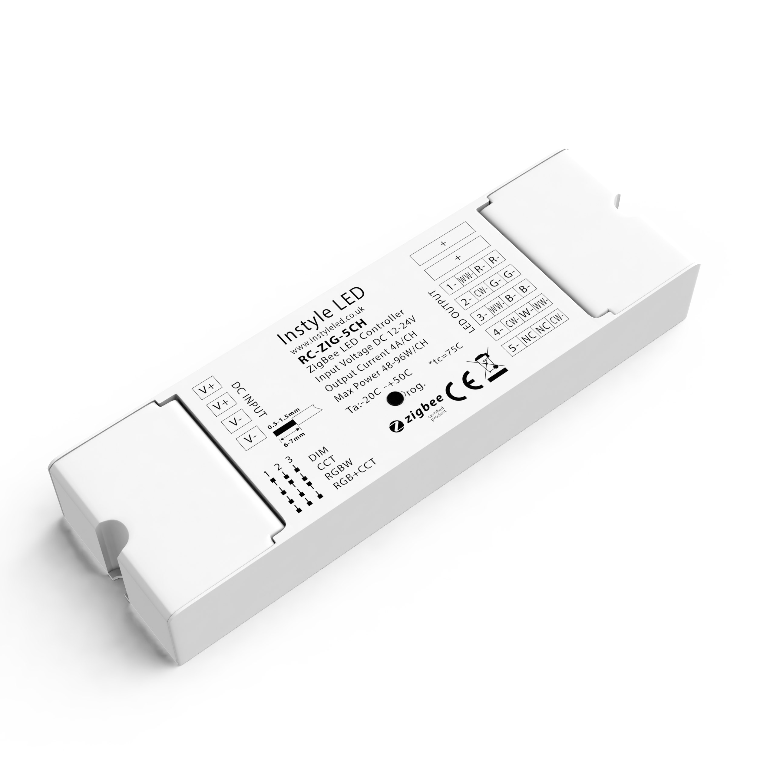 5-channel ZigBee RF receiver for LEDs