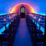 Restaurant - blue LEDs