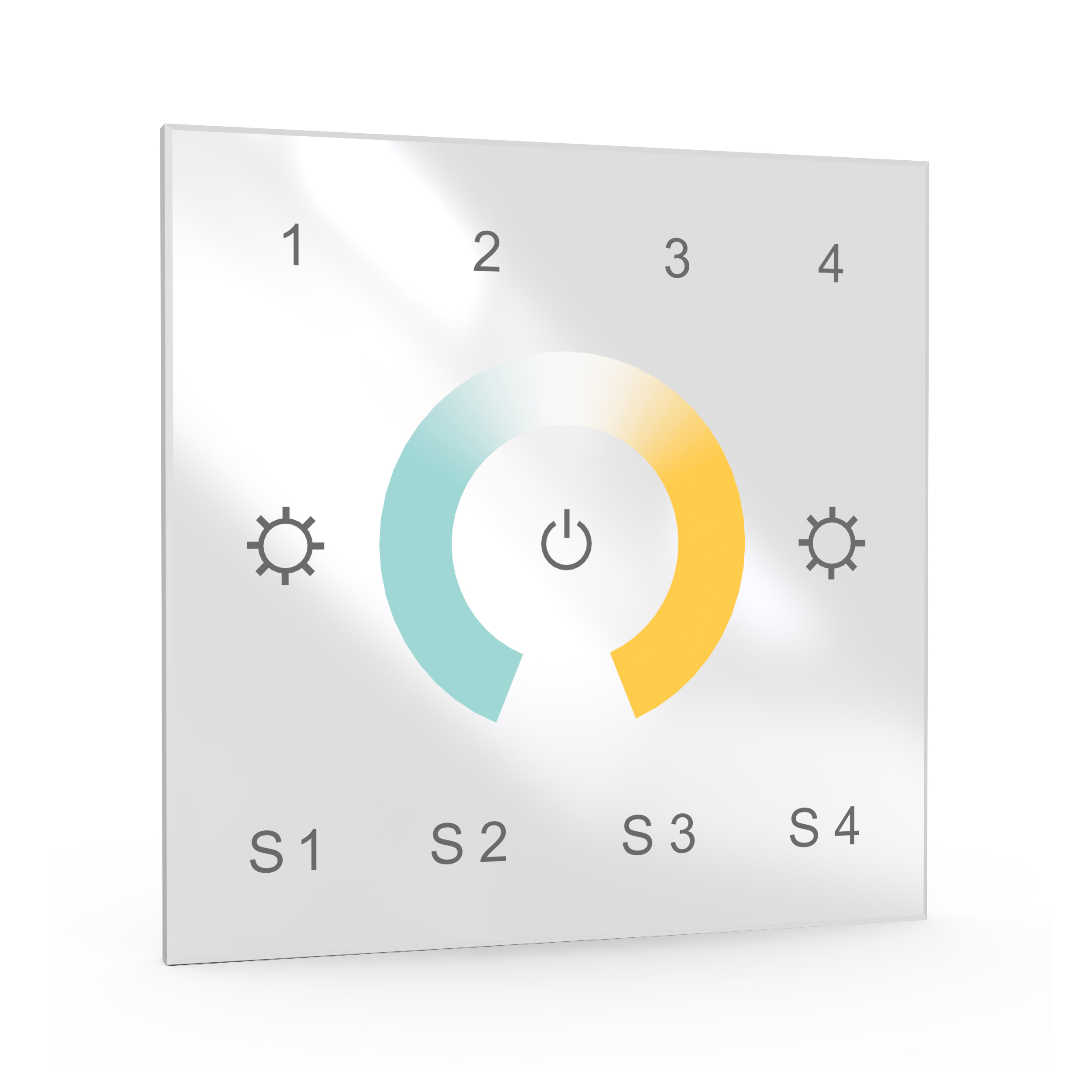 Multizone ZigBee touch controller for CCT LEDs