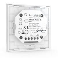 Multizone ZigBee touchpad dimmer for LEDs - back view