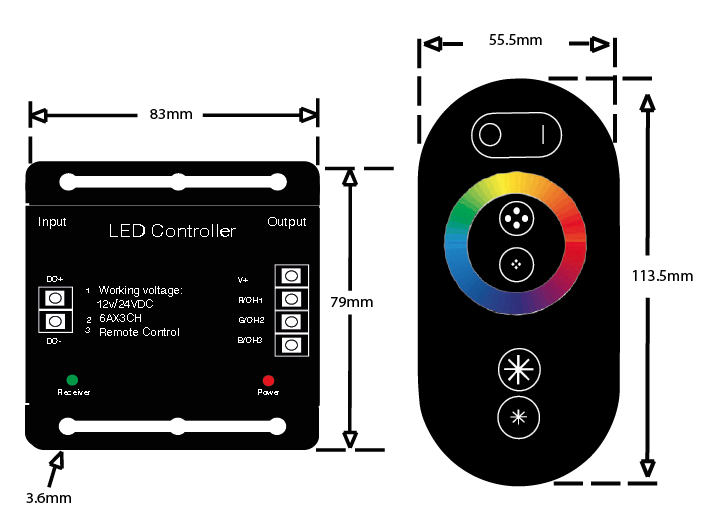 wireless rgb controller for instyle led